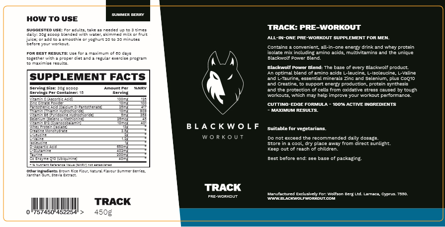 BlackWolf Ingredients