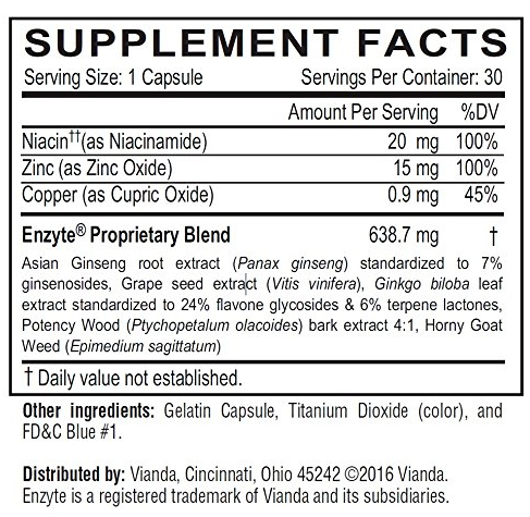 Enzyte Supplement Facts